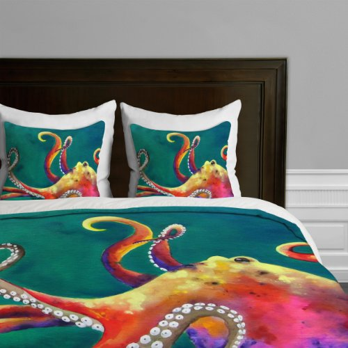 Deny Designs  Elizabeth St Hilaire Nelson Bird of A Different Feather Duvet Cover Queen