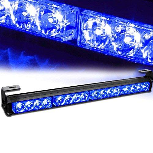 LifeUp® 16W 4x4 LED Voyants d'avertissement de feux de circulation stroboscopiques Voyants d'avertissement clignotants d'urgence (Bleu)