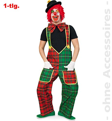 Kostüm 'CLOWN McCheck' Clown-Latzhose Gr. M, XL & XXXL (X-Large)