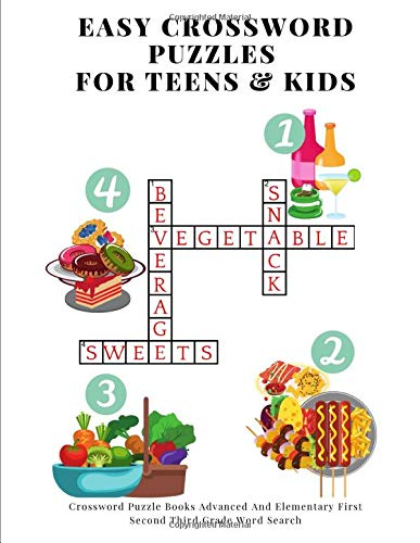 Easy Crossword Puzzles For Teens & Kids: Crossword Puzzle Books Advanced And Elementary First Second Third Grade Word Search