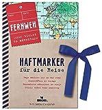 Fernweh Haftmarker | Notizzettel-Set für die Reiseplanung | 250 Sticky Notes Zettelchen im praktischen Büchlein | 5 unterschiedliche Motive in 4 verschiedenen Größen
