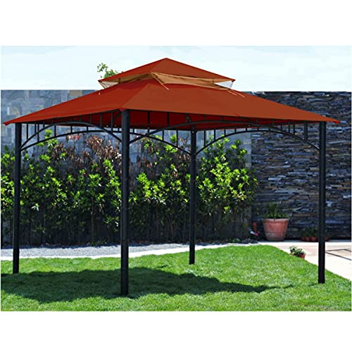 Sunjoy 110109156 Original Replacement Canopy for Madaga Havana Gazebo (10X10 Ft) L-GZ136PST-2/7/9 Sold at Target, Red
