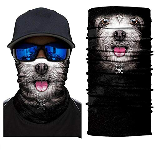 Great Deal! DianDianwl Seamless Magic Bandana Animal Image Hiking Neck Gaiter Sport Fishing Mask 3D ...