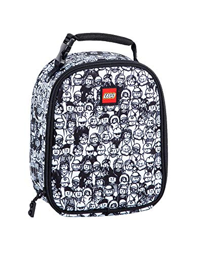 LEGO Kids' Minifigure Crowd Lunch Backpack, Black & White, One Size