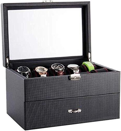 SHANCL Caja de reloj con pulsera de bloqueo caja de almacenamiento de joyería...