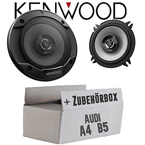 Lautsprecher Boxen Kenwood KFC-S1366-13cm 2-Wege Koax Auto Einbauzubehör - Einbauset für Audi A4 B5 - JUST SOUND best choice for caraudio