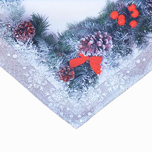 Kamaca Serie Tannenzapfen hochwertiges Druck-Motiv mit weihnachtlichem Motiv Eyecatcher in Winter Weihnachten (Tischdecke 85x85 cm)