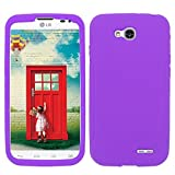 Silicon Purple Phone Case Cover for LG Optimus L90 / D410 D405 D405N D415