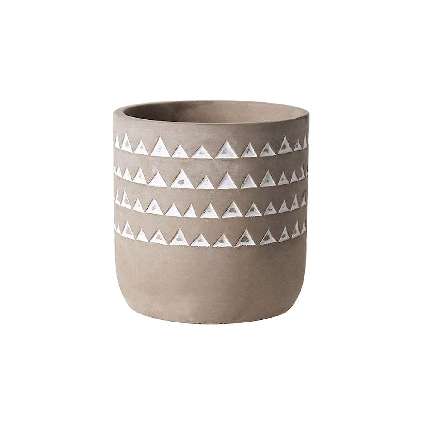 死すべき押す意味植物皿 プラントポットコンクリートフラワープランターセメント - ドレイン穴と4.7