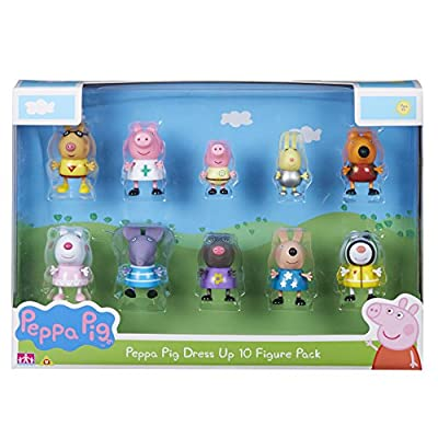 Peppa Pig 06668 Dress-Up 10-Figure Pack, Multicoloured, 4 X 5 X 5.5 cm by Character Options