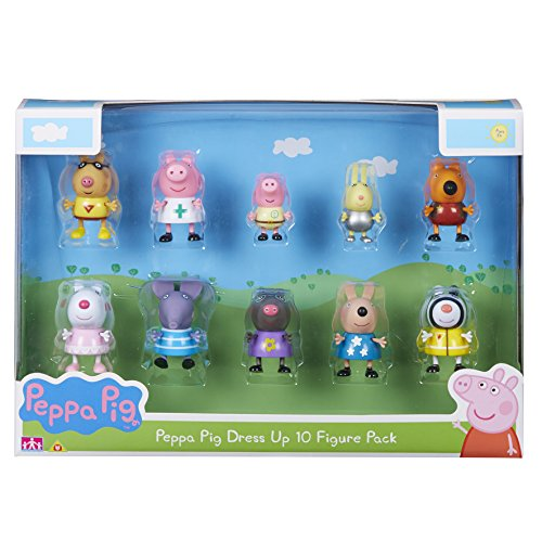 Peppa Pig Set de Personajes, dress up figures, Pack de 10 (06668)