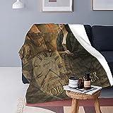 Boutique Throw Blanket -Outlander Collage Super Soft Fleece Throw Blankets,Fuzzy Plush Blanket Oversized,Thin Lightweight Blanket for All Season 50'X40'