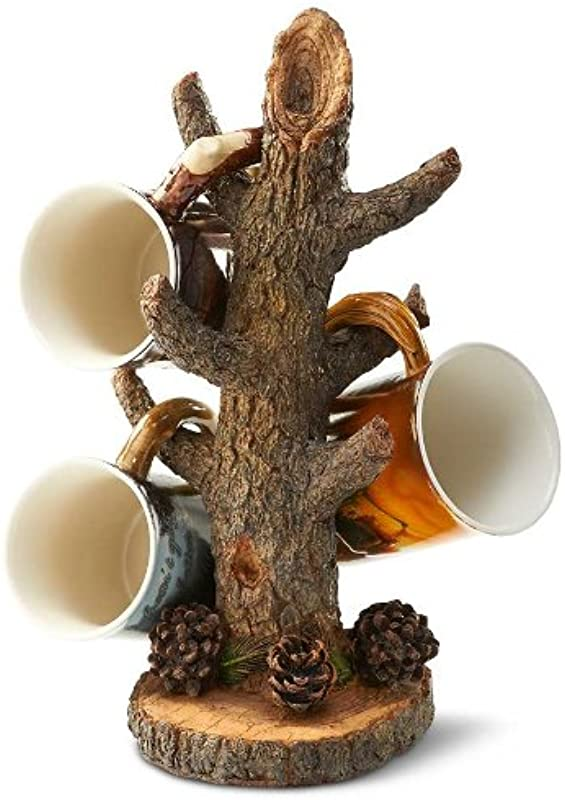 Sculpted Tree Branch Mug Stand