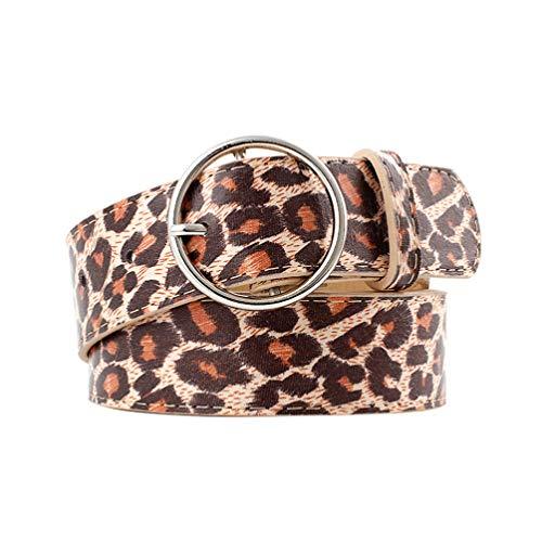 TENDYCOCO leopardenmuster gürtel breiter gepardengürtel damen gürtel pu ledergürtel für frauen