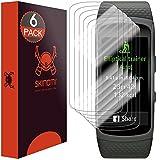Skinomi TechSkin - Schutzfolie für Samsung Gear Fit2 - deckt den gesamten Display, 6er Pack