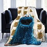 "Slowly Mist Monsters Who Love Cookies Ultra-Soft Micro Fleece Blanket Anti-Pilling Flannel Sleep Comfort Super Soft Sofa Blanket Print (5040)(6050)(8060) Black 50""x40"""