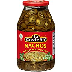 Nachos Sliced Jalapeno Peppers. Pack of 2 jars Product of Mexico No Preservative Added 64 fl oz (4 lb.). x 2 Jars Free Shipping