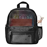 HTLCMMT Semi-Transparent Mesh Backpack Mini, See Through Small Mesh Backpack for Commuting, Beach, Swimming, Travel, Outdoor Sports