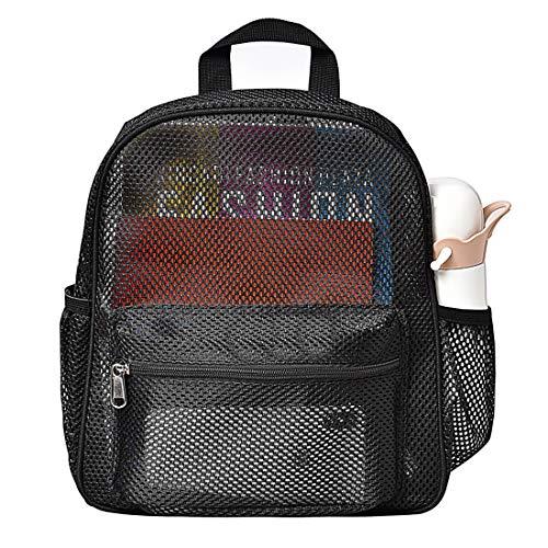 Semi-Transparent Netz-Rucksack, klein, durchsichtig, für Pendeln, Strand, Schwimmen, Reisen, Outdoor-Sport