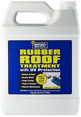 RV Rubber Roof Treatment - 1 gallon - anti-static, dirt repelling, and UV protectant - Protect All 68128