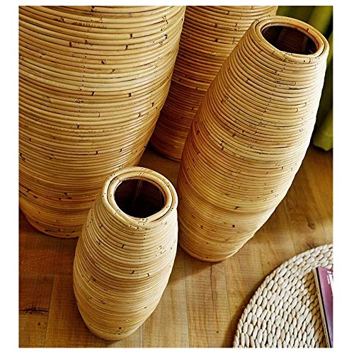 QingT Einfach und modern, Rattan, Vase aus Holz, Wohnzimmer, Flur Einheitshöhe: 60 cm.
