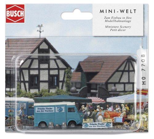 Busch 7708 - Mini-Welt: Marktstand Fische