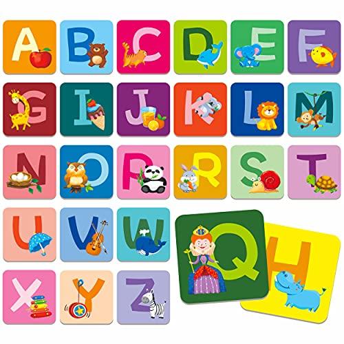 SpriteGru Memory Alphabet Matching Game(26 Pairs of 52 Pieces),...