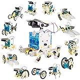 Latocos 14 in 1 Solar Roboter Bausatz STEM Roboter Spielzeug Kinder ab 8,9,10+ Jahren für Jungen Mädchen, Solar Angetrieben DIY Geschenk Lernspielzeug Konstruktionsspielzeug