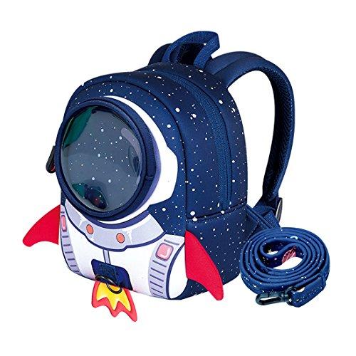 Cool&D Baby Rucksack Kindergarten Rucksack Rakete Muster Schultasche Anti-Verloren Rucksack für Jungen und Mädchen 1-3 Jahre