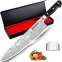 MOSFiATA 10 Inch Super Sharp Chef Knife with Finger Guard