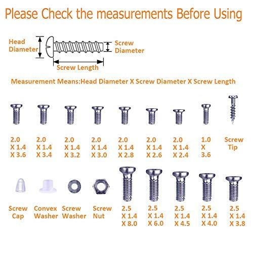 Eyeglasses Repair Kit, 1000PCS Eyeglass Screws and 6 Pcs Screwdrivers Tweezer for Eyeglasses, Sunglasses, Watch Clock Spectacle Repair