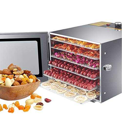 Learn More About Food Dehydrator Machine,Stainless Steel 6 Trays,Super Capacity, Multi-Tier Food Pre...