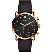 Fossil Q Men's Hybrid Smartwatch Stainless Steel Analog-Quartz Watch with Leather Strap (FTW1176)