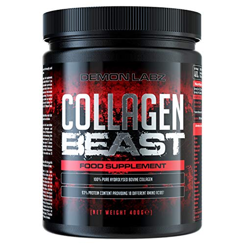 Collagen Beast - Ultra High Purity Collagen Peptides & Protein - Use Post Workout for Muscle Growth (400 Grams)