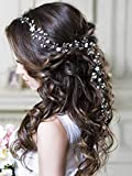Unicra Wedding Crystal Flower Hair Vine Bridal Headpiece Headbands...
