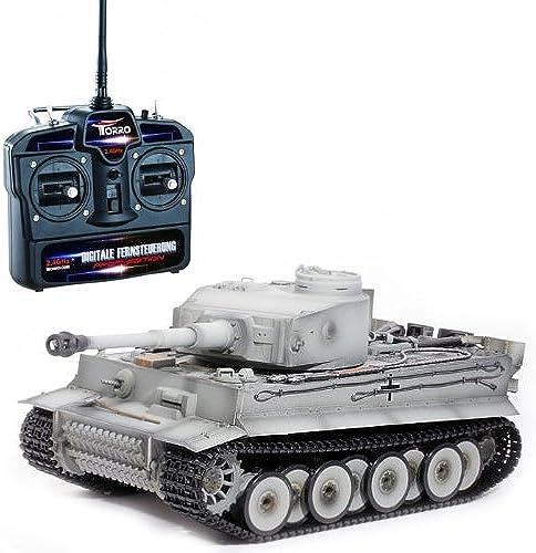 RC Panzer Tiger I Frühe Version winter-grau 1 16 schussf g Rauch & Sound RTR fürfertig