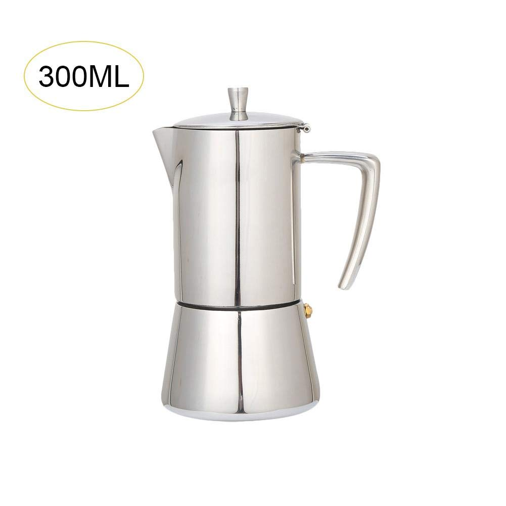 iShinè_Kitchen supplies máquina de café cafetera Acero Inoxidable café Jarra de Filtración (Set Pot de Filtro de Taza de café, Plata, 300ml: Amazon.es: Hogar