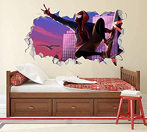 SHUBING 3D Wall Stickers Spider Text Location Amazing Wall Decals Wall Stickers Kids Vinyl Decals 3D Wall Decals