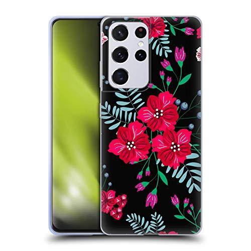 Head Case Designs Licenza Ufficiale Haroulita I Trio Fiori Scuri Fantastici Cover in Morbido Gel Compatibile con Samsung Galaxy S21 Ultra 5G