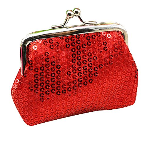 Cuekondy Sequin Wallet Sparkly Bling Coin Purses with Clasp Change Pouch Small Wallet Gift For Women...