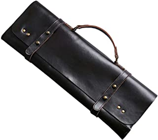 Hand Made Drum Stick Bag,Genuine Leather Leather & Brass Drumstick Bag,Cowhide Drumstick Case (Brown)