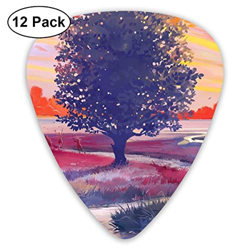 Klassische Gitarre Picks Tree Painitng Plectrums Instrument