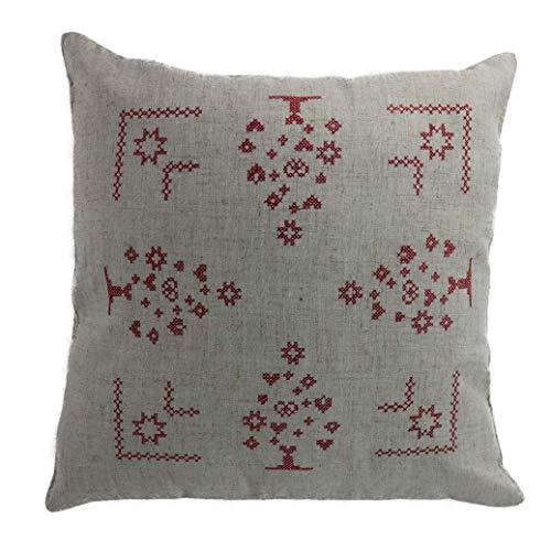 Sin necesidad de llenar el invierno almohada Navidad bordado de la Cruz...