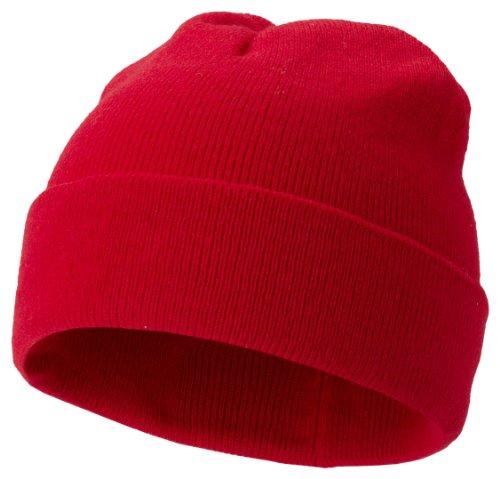 U.S. Bonnet tricoté en tricot – 5 couleurs noir, rouge, gris marine, vert citron - Rouge - taille unique
