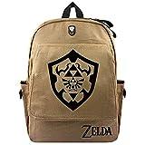 QIERK Die Legende von Zelda Tasche Anime Legende von Zelda Cartoon Rucksack Frauen Herren Laptop Umhängetasche Reisetasche Student Canvas Schultasche
