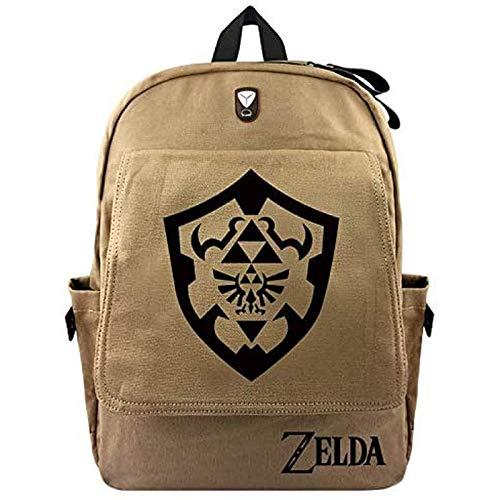 QIERK The Legend of Zelda Bag Anime Legend of Zelda Cartoon Backpack Female Men's Laptop Shoulder Bag Travel Bag Student Canvas School Bag Best Gift