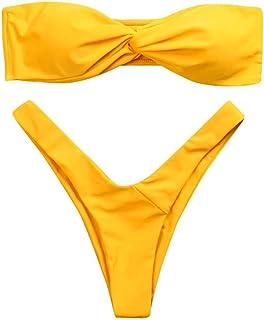 dc3dbe9765 Bikini Maillot De Bain Dos Nu Bra Sexy 2 Pièce Lolittas Twist Front Thong  Bustier Deux