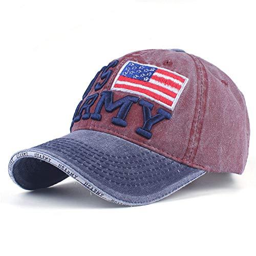 Gorra de Beisbol Sombrero Cap 100% Algodón Lavado Gorras De Béisbol Hombres Gorra Bordado Casquette Papá Sombrero para Mujer Gorras Planas Snapback Hat Us-Army