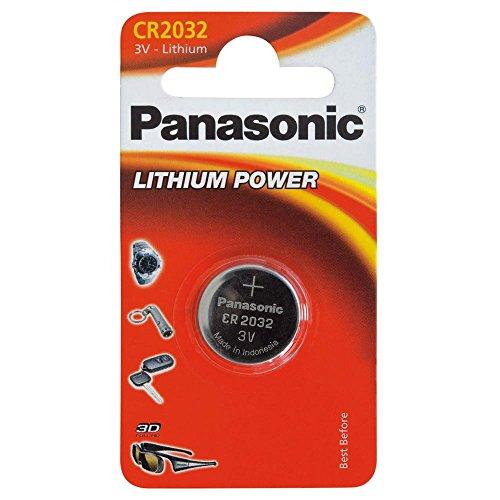 PANASONIC CR 2032 Litio Pila a bottone, 3V, confezione da 1