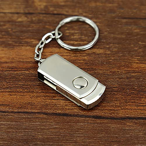 ZWWZ Unidad Flash USB,Memory Stick,Memoria USB,Impermeable Metal Memory Stick,USB 2.0 Viene con un Llavero,Memoria Robusta Gran Capacidad para PC/Computadora/Laptop